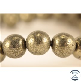 Perles en pyrite - Rondes/8mm - Grade A