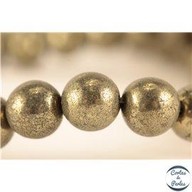 Perles semi précieuses en pyrite - Rondes/8 mm - Grade A