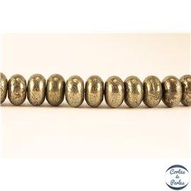 Perles semi précieuses en pyrite - Roues/8 mm