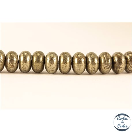 Perles semi précieuses en Pyrite - Roue/8 mm