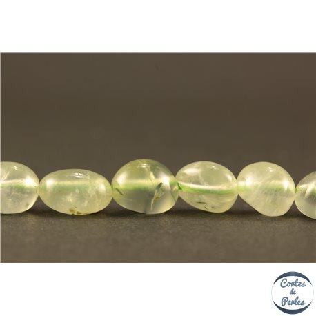 Perles semi précieuses en Préhnite - Nuggets/5-10 mm
