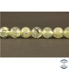 Perles semi précieuses en préhnite - Rondes/8 mm