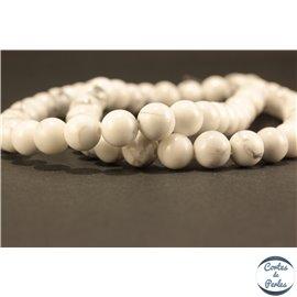Perles semi précieuses en Howlite - Ronde/6 mm