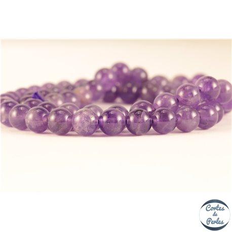 Perles semi précieuses en Améthyste - Ronde/6 mm - Grade AB