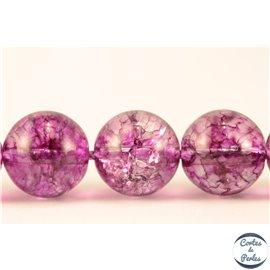 Perles semi précieuses en cristal crack - Rondes/10 mm - Camélia