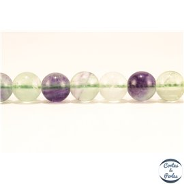 Perles semi précieuses en Fluorite - Ronde/8 mm - Vert - Grade A