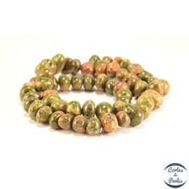 Perles semi précieuses en Unakite - Chips/9-12 mm