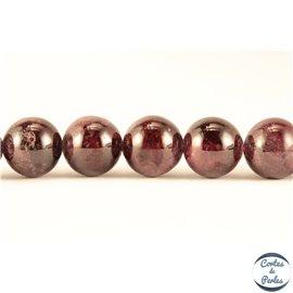 Perles semi précieuses en Grenat - Ronde/10 mm
