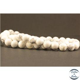 Perles semi précieuses en Howlite - Ronde/8 mm