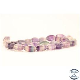 Perles semi précieuses en Fluorite - Twist/6 mm - Light Violet