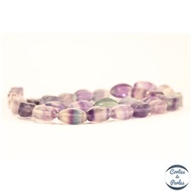 Perles semi précieuses en fluorite - Twists/6 mm - Light violet
