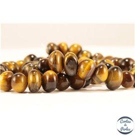 Perles semi précieuses en oeil de tigre - Nuggets/6-10 mm