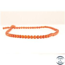 Perles semi précieuses en Agate - Ronde/4 mm - Crimson - Grade A