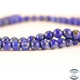 Perles semi précieuses en lapis lazuli - Rondes/4 mm - Grade A