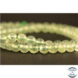Perles semi précieuses en préhnite - Rondes/5 mm - Grade AA