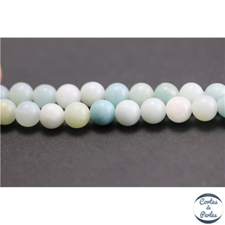 Perles semi précieuses en amazonite - Rondes/6 mm - Turquoise light