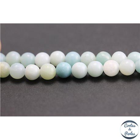 Perles en amazonite - Rondes/6mm