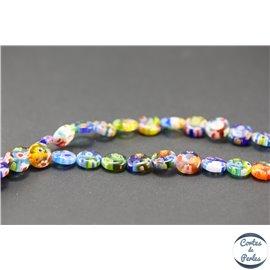 Perles millefiori en verre - Disques/10 mm - Multicolore