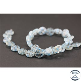 Perles millefiori en verre - Disques/12 mm - Light blue
