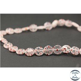 Perles millefiori en verre - Disques/12 mm - Rose clair