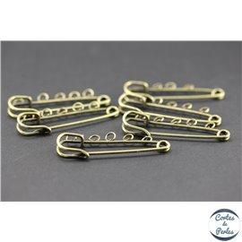 Broches en métal - 50 mm - Bronze