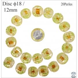 Perles de Venise - Ronde/18 mm - Jaune