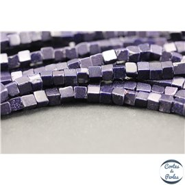 Perles en goldsand stone midnight - Cubes/5mm