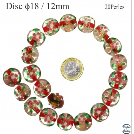 Perles de Venise - Ronde/18 mm - Rose