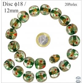 Perles de Venise - Ronde/18 mm - Vert