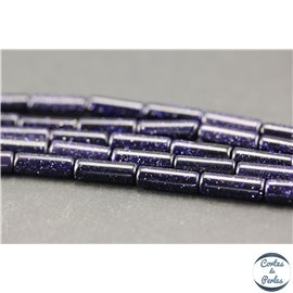 Perles en goldsand stone midnight - Tubes/4mm