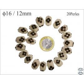 Perles de Venise - Roue/16 mm - Noir