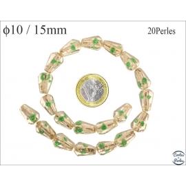Perles de Venise - Cône/10 mm - Vert