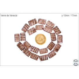 Perles de Venise - Rectangle/10 mm - Beige