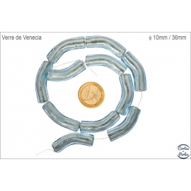 Perles de Venise - Tube/10 mm - Bleu