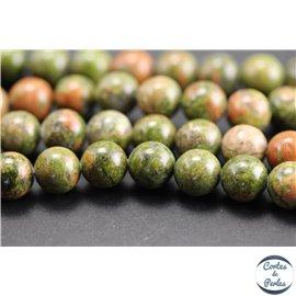 Perles en unakite - Rondes/8mm