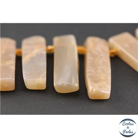 Perles en pierre de Soleil - Rectangles/20-45 mm