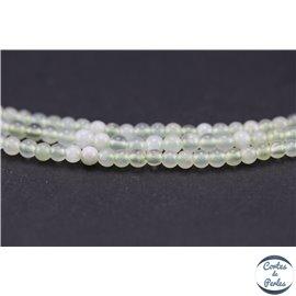 Perles semi précieuses en serpentine - Rondes/4 mm - Vert pâle