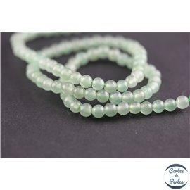 Perles semi précieuses en aventurine - Rondes/4 mm - Water green