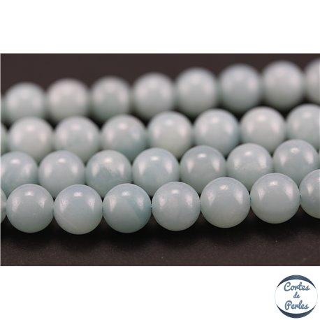 Perles semi précieuses en amazonite - Rondes/8 mm - Turquoise light - Grade AA