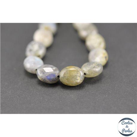 Perles semi précieuses en labradorite - Ovales/10 mm - Gris smoke