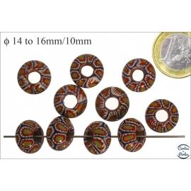 Perles de Goulimine & Pandora - Donuts/14 mm - Multicolore