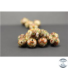 Perles chinoises cloisonnées - Roues/12 mm - Cuivré