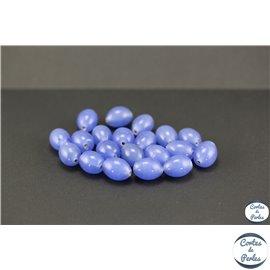 Perles indiennes en verre - Ovales/13 mm - Lavande
