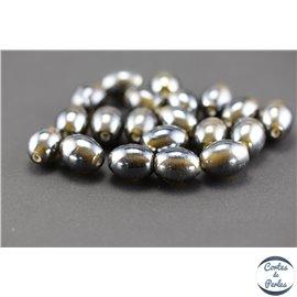 Perles indiennes en verre - Ovales/14 mm - Orage