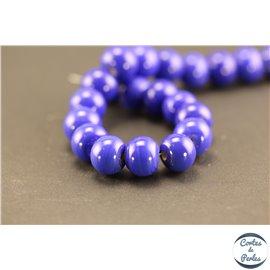 Perles indiennes en verre - Roues/10 mm - Bleu lapis