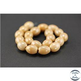 Perles indiennes en verre - Ovales/14 mm - Mocassin
