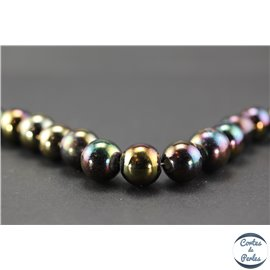 Perles indiennes en verre - Rondes/13 mm - Polychrome