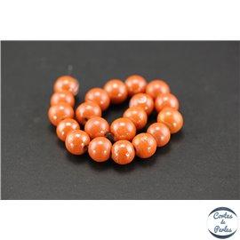 Perles indiennes en verre - Rondes/10 mm - Corail
