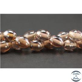 Perles indiennes en verre - Ovales/13 mm - Parme