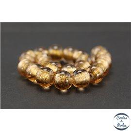 Perles indiennes en verre - Rondes/12 mm - Padparadscha